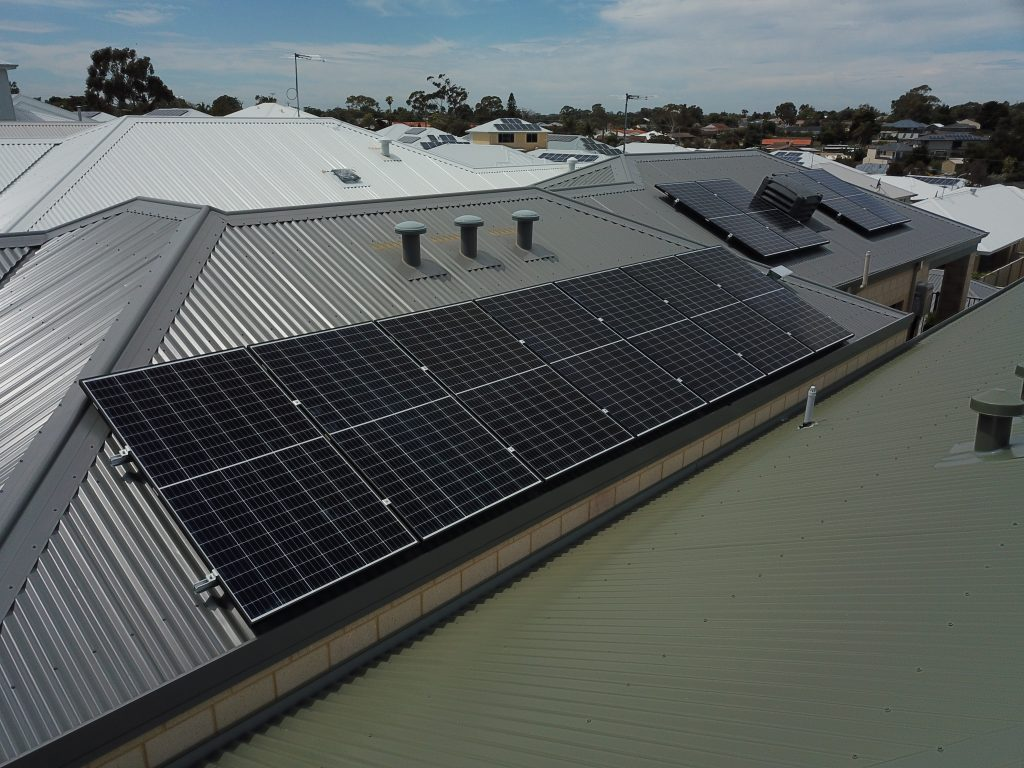 solar panels installed on a residential home